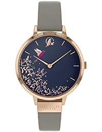 Sara Miller Chelsea Collection SA2022 - Reloj con Correa de Piel chapada en Oro Rosa
