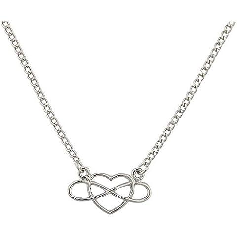 Lux accessori a infinito & Beyond (collana con ciondolo a forma di cuore.