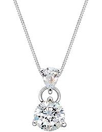 Elli Damen-Kette mit Anhänger 925 Silber Zirkonia weiß Brillantschliff 45 cm - 0108981816_45