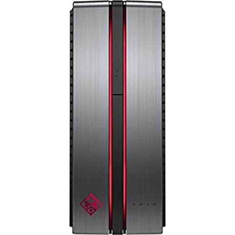 HP OMEN 870-117ns - Ordenador de sobremesa (Intel Core i5-6400, 8 GB de RAM, HDD de 1 TB, NVIDIA GeForce GTX 950, FreeDOS 2.0), plomizo  - teclado y ratón óptico QWERTY