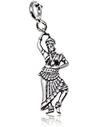 Pendant in 925 Sterling Silver Odissi Dancer Charm for Dance Lovers by fourseven | Women & Girls Jewellery