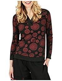 Aller Simplement - T-shirt femme en coton à manches longues col V Aller Simplement TS907