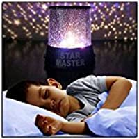 Zantec Colorful Twilight Romantic Sky Star Master Projector Lamp Starry LED Night Light Kids Bedroom Bed Light for Christmas Light (Black)