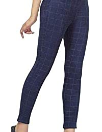 Respect Women Check Pants (Jegging Style) Formals/Casual Stretchable - 26-32 Inch Waist