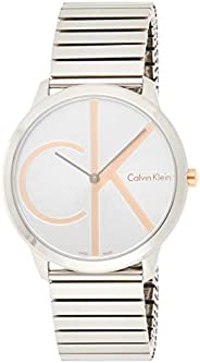 Calvin Klein K3M21BZ6 Mens Quartz Watch, Analog Display and Stainless Steel Strap, Silver