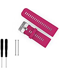Bemodst® Garmin Smartwatch Reemplazo Banda Correa para Garmin vivoactive HR reloj inteligente pulsera correa con cuchillo y original tornillos, Rosa roja