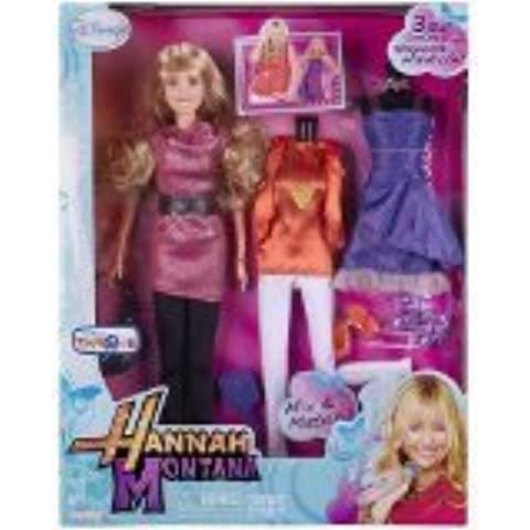 Hannah Montana Fashion Doll with 3 Real Outfits From Hannah's Wardrobe! by Disney