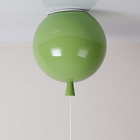 Moderno sombra Niños Espacio, Fiesta, Festival,globos de color Lámpara , Lámpara de techo,1 x E27,Ø 25 cm, 5 color (Amarillo, color blanco, naranja, rojo y verde)