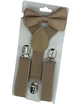 Hehong Kids Cute Gentlement Set Tirantes corbata de lazo, elástico ajustable para niños pequeños, Fashion Y Shape...