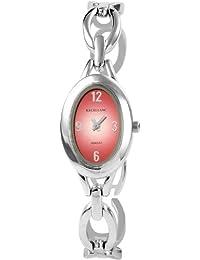Excellanc 152725000005 - Reloj analógico de mujer de cuarzo con correa de aleación plateada