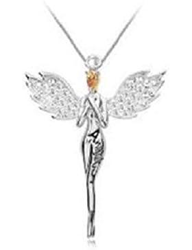 Schutzengel Kristall Anhänger Halskette Make Swarovski Elemente