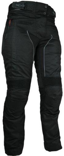 *Heyberry Damen Motorrad Hose Motorradhose Textil Schwarz Gr. XXL / 44*