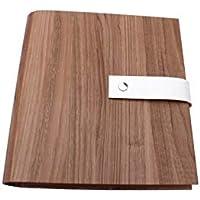 Archivador con cubierta de papel óptica de madera MACORÉ DIN A5 y DIN A4 - Con