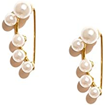 pipabella Off-White Pearl Dangle & Drop Earring For Women