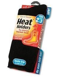 New Black Heat Holder Socks for men (Size 6-11)