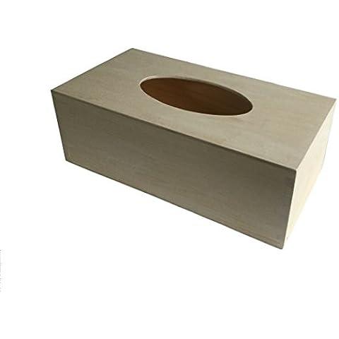 INSPIR scatola di legno fatta a mano per fazzoletti perfetta per Kleenex, casa, bagno, macchina, sala da pranzo, garage, salotto ecc. regalo perfetto per il giorno di papa', di mamma, il Natale, la Pasqua ecc. decoupage
