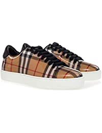 3bb0bab769ed BURBERRY Women s Shoes  Westford  Vintage-Check Sneakers with High Gloss  Upper Beige