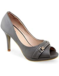 Shuz Touch Grey Heels & Stilettos