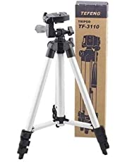 HRK Flexible Foldable Tripod for Camera, DSLR and Smartphones with Mobile Attachment,Tripod for Mobile Phone,Tripod Stand for Phone and Camera,Mobile Tripod Stand (White & Black)