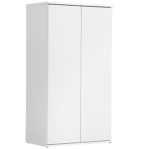 *mokebo® 'Der Schlanke' Mehrzweckschrank, Aktenschrank, Schrank, Büroschrank, Universalschrank, Beistellschrank, in Weiß mit Push-to-Open Funktion, 60x110x34 cm (B/H/T), Made IN Germany!*
