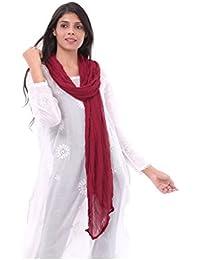 Apratim Women Poly Chiffon Solid Plain Dupattas - B0763MNXSY