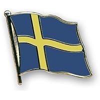 Yantec Flaggenpin Schweden rechteckig Pin Anstecknadel Fahnenpin
