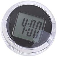 MagiDeal 1 Unid Reloj con 2 Pc Pegatina Engomada Recambio de Motocicleta Universal - Negro