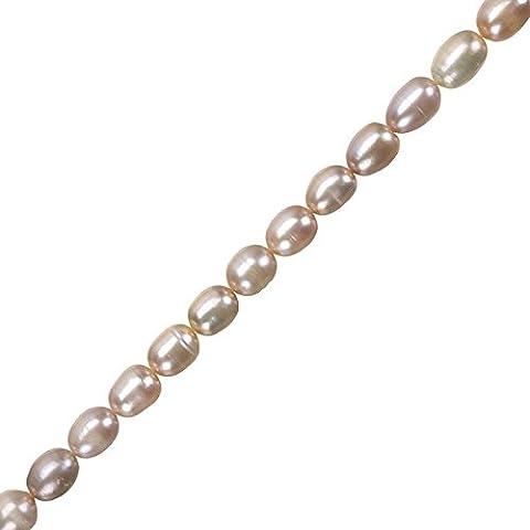 Perle d' acqua dolce vera Peach/Lilla riso perline 6–7mm