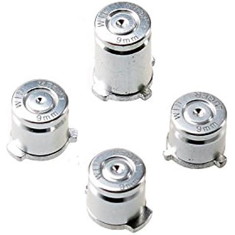 Gam3Gear 9 millimetri personalizzato di pulsanti di metallo pallottola ABXY per Argento Xbox ONE controller - Abxy Pulsanti