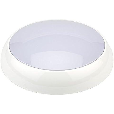 Biard Lámpara de Emergencia Luz LED Redonda 20W - Blanco Frío - Señal de Seguridad - Vida Útil 25000 Horas - Uso Comercial - Ideal Para Oficinas & Negocios