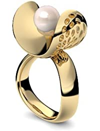 Golfschmuck Golf Schmuck Gold Ring Süßwasser Perle rosé hochwertig vergoldet! + inkl. Luxusetui + Süßwasser Perle rosé Ring Gelbgold vergoldet Perlenring Gelbgold AM253 VGGGPRPE