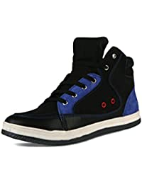 BACCA BUCCI MEN BLUE GENUINE LEATHER CASUAL SHOES