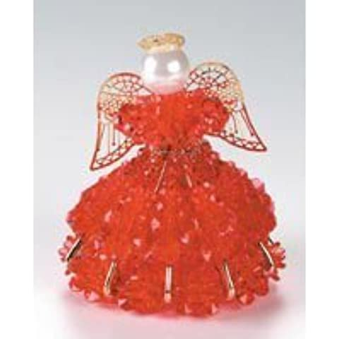 Birthstone Angel Ornament Bead Kit - July Ruby by Darice
