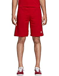 new concept 768a5 60235 adidas 3-Stripe Short, Pantaloncini Uomo, Power Rosso, XL