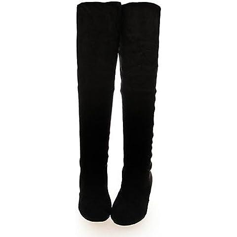 Scarpe donna coreano elasticità di piacere vendere bene cuneo tacco Scarpe comfort Outdoor / abito nero,Black,US8 / EU39 / UK6 / CN39