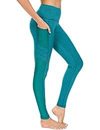 New Mincc Leggings de Sport pour Femme Pantalon Yoga Fitness Minceur Long  avec Poches Basique élastique a028106c78b