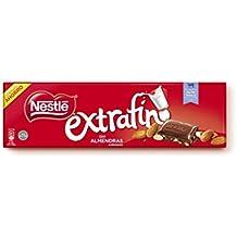 Nestlé Extrafino Chocolate con Leche y Almendras - Tableta de Chocolate - 15x300 g