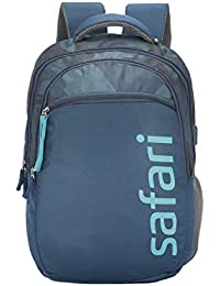 SAFARI 48 cms Blue Laptop/Casual/School/College Backpack with USB Charging (CAMP19CBBLU)