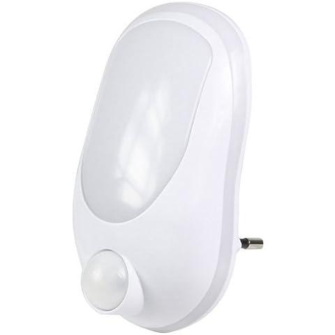 Ranex 6000.293 - Punto de luz LED con detección de movimiento, plástico, color blanco