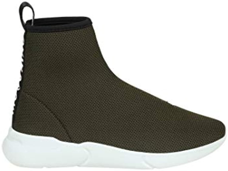 Moschino Womens Fabric Ma15074g16mj0852 Green Hi Top Sneakers Parent B07gc543w1 E2c739e