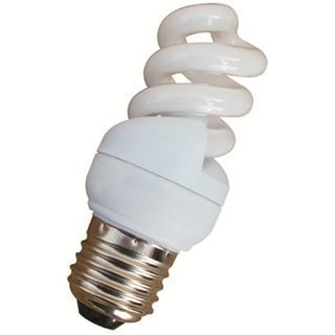 2 x 5 W de bajo consumo lámparas espiral 840/blanco/4000 K 5w=25w ES/E27/rosca promoción hasta fin de existencias!