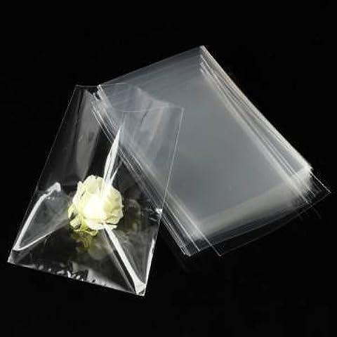100pc cellophane trasparente merenda al sacco per il regalo di cioccolato lecca-lecca 12x8cm