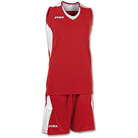 JOMA SET BASKET SPACE RED-WHITE SLEEVELESS W. S