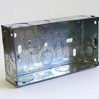 Caja de acero galvanizado de 35 mm de profundidad, 100 unidades