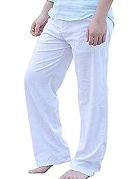 Pantaloni da Uomo Lunghi Pantaloni da Spiaggia per Il Tempo Libero Primavera  Classiche Autunno Pantaloni Leggeri A Gamba Larga… 0a16763b34d4