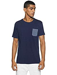Indigo Nation Nation Street Men's Solid Slim Fit T-Shirt
