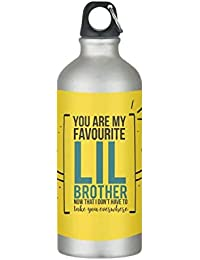 Yaya Cafe Birthday Gifts for Kid Little Brother, Favourite Little Brother Sipper Water Bottle