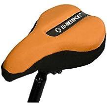 Ejercicio Bicicleta Gel asiento cojín–Suave Pad–más cómodo sillín de bicicleta para hombres y mujeres–se adapta a Cruiser y papelería bicicletas, bicicleta estática, Spinning, naranja