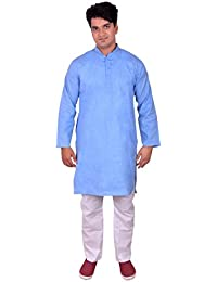 Ferozi Kurta With White Cotton Payjama