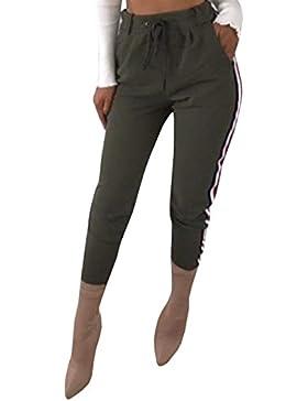 ADELINA Mujer Pantalones Fashion Deportivas Fitness Pantalones Deporte Elegantes Fashion Cintura Alta con Correas...